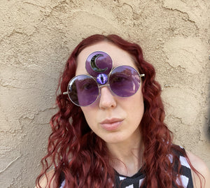 Prince Third Eye Sunglasses-Rave Fashion Goddess