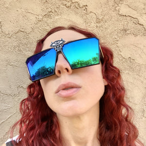 Psychedelic Glasses-Rave Fashion Goddess
