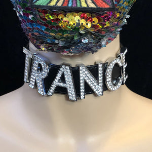 Rhinestone Choker-Rave Fashion Goddess