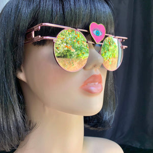 Rose Gold Sunglasses-Rave Fashion Goddess