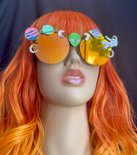 Space Sunglasses-Rave Fashion Goddess