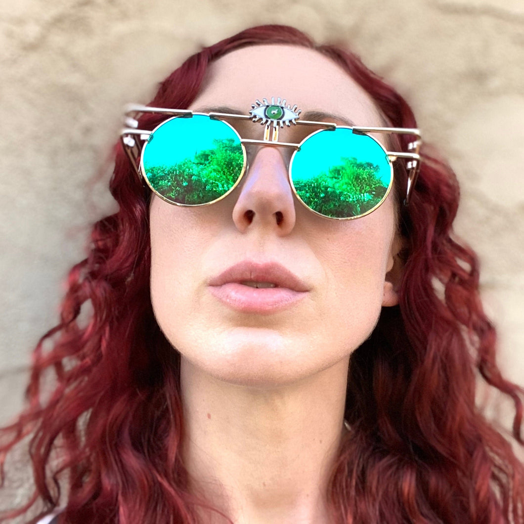 Trippy Glasses-Rave Fashion Goddess