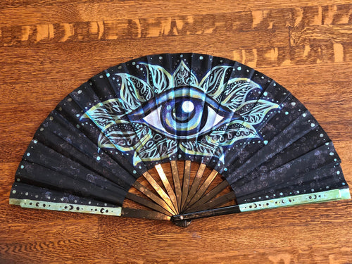 Trippy Hand Fan-Rave Fashion Goddess