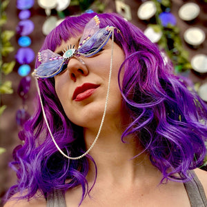 Winged Sunglasses-Rave Fashion Goddess
