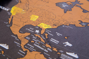 Deluxe World Scratch Off Map