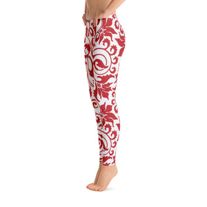 Red Flower Leggings