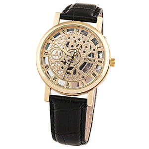 Men Fashionable Skeleton Dress Watch