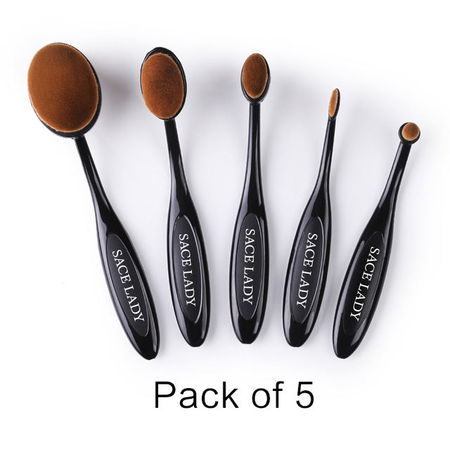 SACE LADY Make Up Brushes Set Beauty Professional Toothbrush Soft Makeup Foundation Brush Kit Face Eye Concealer Brand Tool