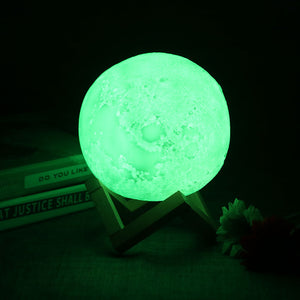 3D LED Moon Lamp (16 Colors)