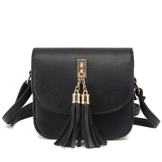 Fashionable Tassel Messenger Handbag