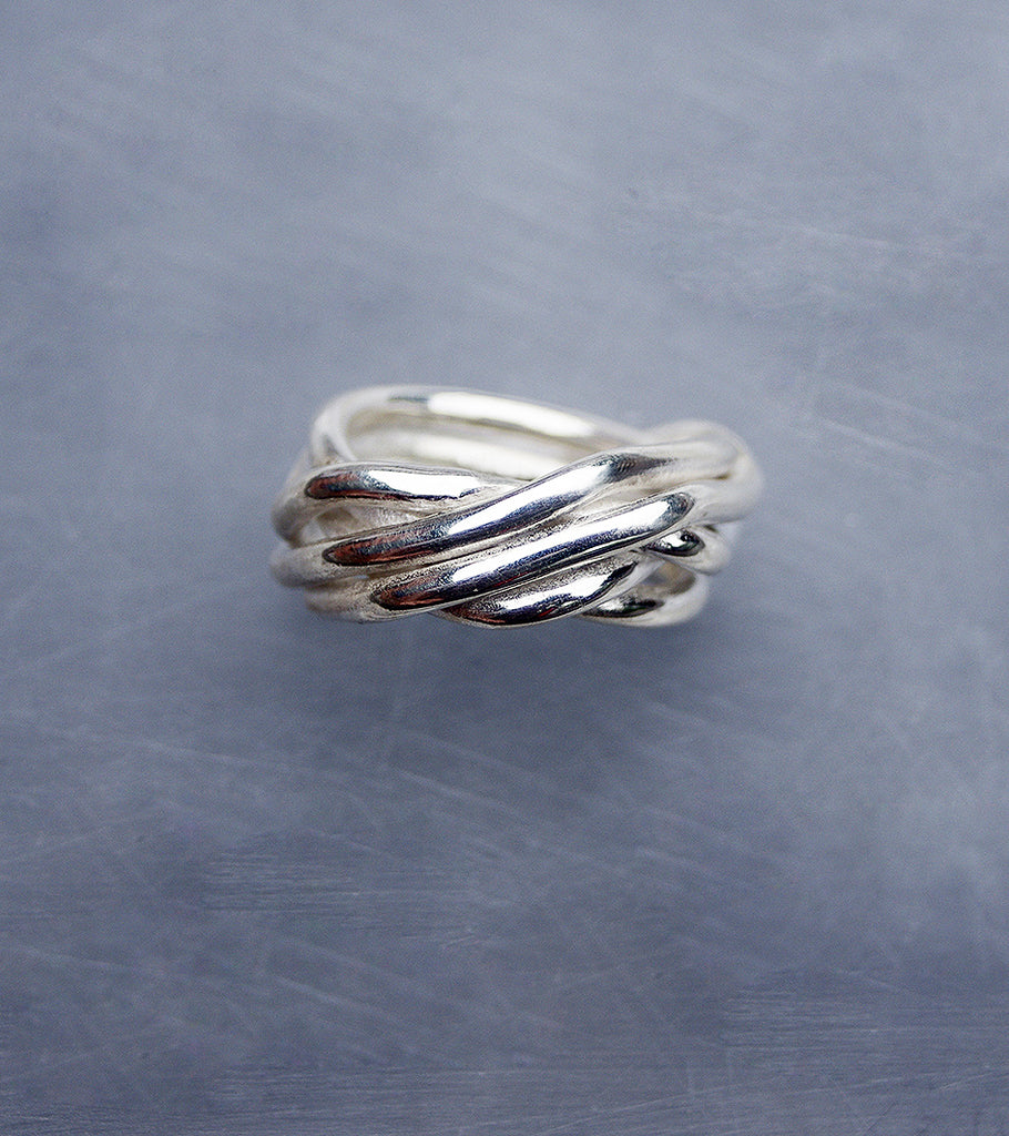 Heavy Cast Sterling Silver Wire Ring – Tracy Hopkirk Jewellery