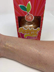 Birthday Everyday Party Cake Scented Pink Glitter Body Gel 6oz