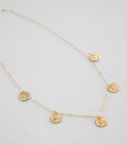 Coin Dangle Necklace