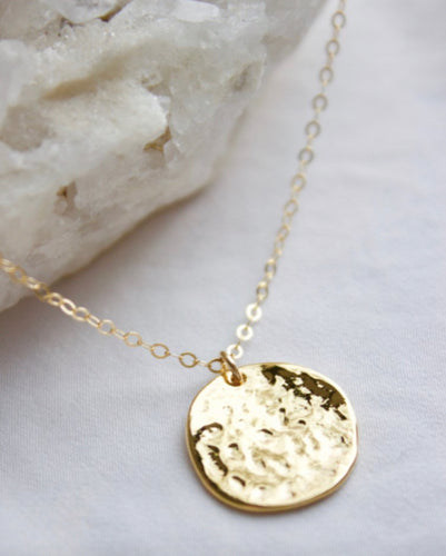 Hammered Disk Necklace
