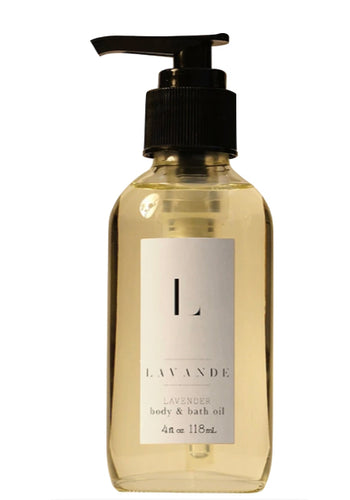 Lavender body and bath oil 4oz