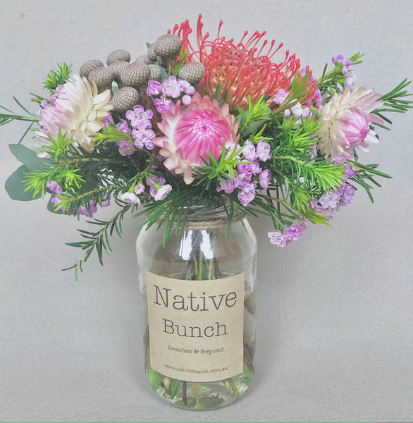 Native flower posy by Native Bunch brutalist and prettiness