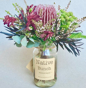 Native flower Posy Burgandy by Native Bunch