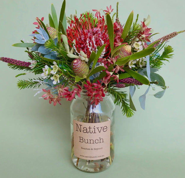 Native flower posy Festive Cheer