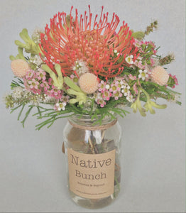 Native flower posy by Native Bunch Healthy Eats