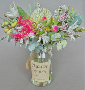 Native flower posy by Native Bunch hot cool hot cool