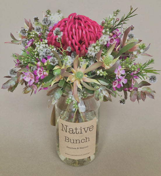 Native flower posy by Native Bunch no glam waratah