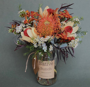 Native Bunch weekly posy Orange fizzy pop