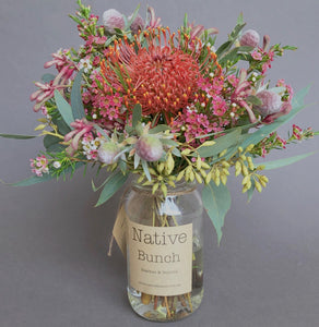 Native flower posy by Native Bunch pinkish delight