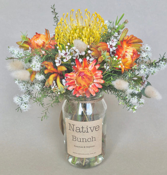 Native flower posy by Native Bunch Sunny state of mind