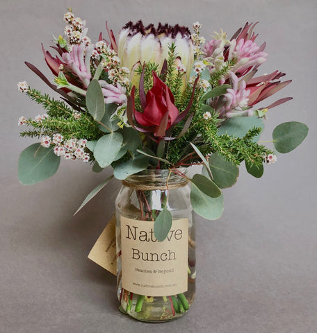 protea flower posy sydney northern beaches delivery manly, dee why, beacon hill native flower delivery