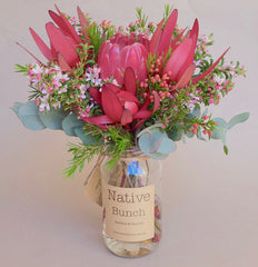 Native flower Posy by Native Bunch delivered to Sydney Northern Beaches, Sydney North Shore, Sydney Inner West Native flower delivery Sydney Eastern Suburbs Banksias, Proteas and more! from $30