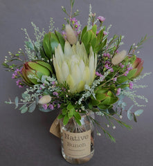Native flower posy by Native Bunch delivered to Sydney Northern Beaches, North Shore & Inner West Proteas, Banksias, Leucadendrons & more