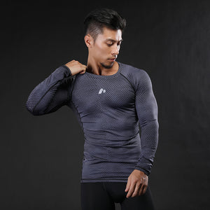 Bold Long Sleeve Compression T-Shirt - The Gym Stop
