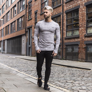 Clouded Long Sleeve Fitness Shirt - The Gym Stop