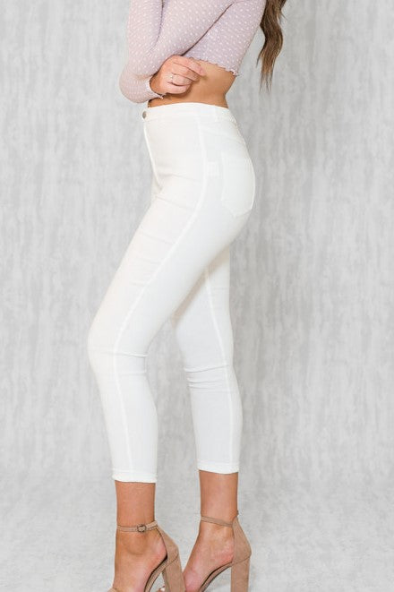 Skinny Jegging - White