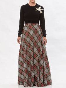 Claire Plaid Skirt
