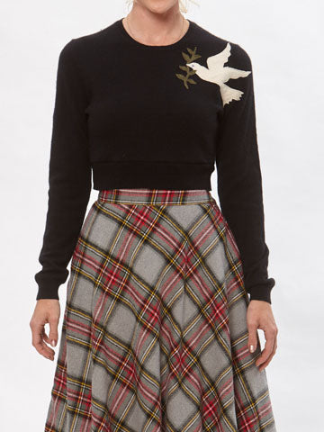 Cropped Peace Dove Sweater