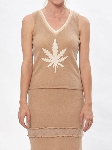 Hemp Leaf Sweater Vest