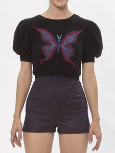 Cropped Butterfly Sweater