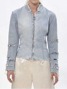 Charlotte Beaded Denim Jacket