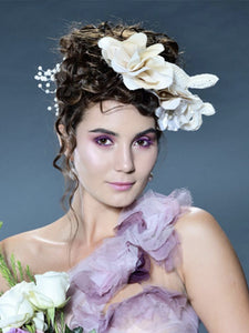 Creme Flower Headpiece
