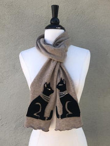 Bastat Cat Applique Scarf