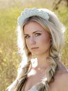 Blue Beaded Headpiece