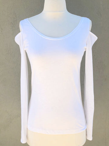 Organic Cotton Cold Shoulder Boatneck