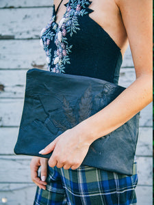 Mixed Leather Clutch Bags