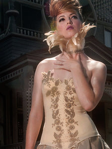 Irene Gold Beaded Bustier