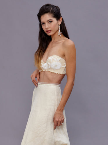 Jane Beaded Bralette Gown