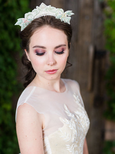 Pastel Beaded Headpiece