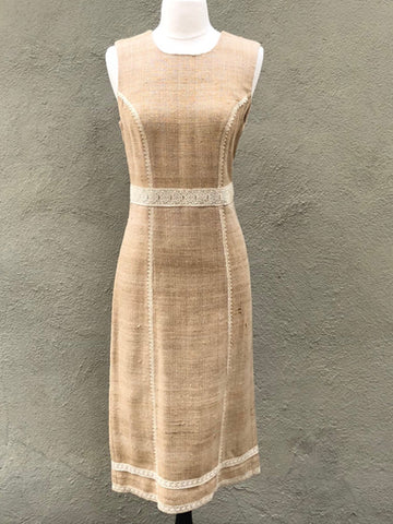 Peace Silk Sheath Dress