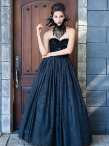 Raven Black Wedding Gown