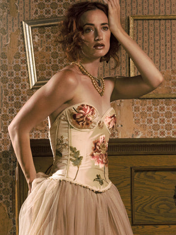 Embroidered Taffeta Bustier